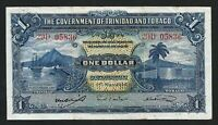 Trinidad and Tobago 1 Dollar 1942, aXF, P-5c1, Harbor and Ship