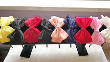 Joblot 18pcs Mixed color silk Bow Design Metal Headband wholesale lot C