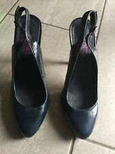 Jones Bootmaker Ladies Blue High Heeled Slingback Shoes Size 38 Great Condition.