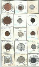New ListingLot of 15 Foreign World Coins 1942 to 1982