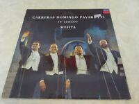 Carreras Domingo Pavarotti in Concert Mehta Original Album LP Record Vinyl