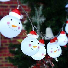 Christmas 10 LED String Light Snowman Fairy Indoor Lights Party Xmas Tree  Decor