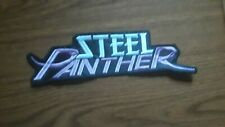 STEEL PANTHER.SEW ON WHITE AND PURPLE EMBROIDERED LARGE BACK PATCH