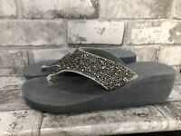 Ladies Silver Wedge Sandal Uk Size 5