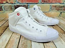 Converse Street Mid White Canvas Padded Collar Athletic Sneakers Men's 12
