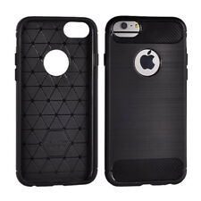 ^ Apple iPhone 5 carbon TT negro bolso back, funda flip cover funda Tpu, estuche
