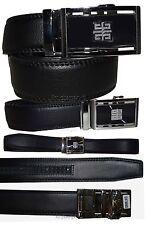 "Men's belt. 30"" Leather Dress Belt, Automatic Lock belt buckle Men's Black belt*"