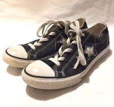 CONVERSE ONE STAR junior's fashion blACK canvas walking shoe size--4
