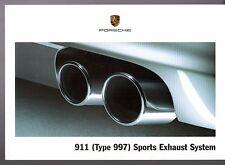 PORSCHE 911 Sistema di scarico sportivo opzionale mercato britannico VOLANTINO BROCHURE 997