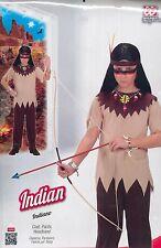 Vestito, Abito, Costume Carnevale, INDIANO, INDIAN (4-5 ANNI) SIZE 116cm.
