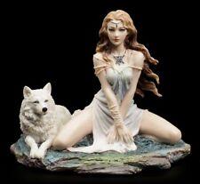 Storm Maiden Figur - Wächterin mit Wolf - Veronese Deko Fantasy Sammelfigur