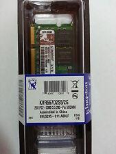 Genuine Kingston Memory RAM 2GB DDR2 PC2-5300 667MHz KVR667D2S5/2G for Laptop