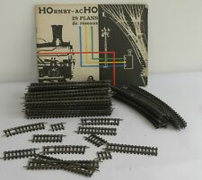 HORNBY HO 28 PLANS DE RESEAUX + LOT DE RAILS # 7500 – 7650 – 7600 – 7660 – 7520