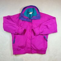 VTG Columbia Bugaboo Jacket 90's Bright Pink / Blue 3 in 1 w/ Fleece Liner Small