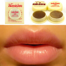 3xNATURAL BEE WAX THAI TRADITIONAL HERBAL LIP BALM (MAE LEAB) DARK LIP TREATMENT