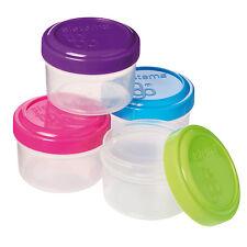Sistema To Go Mini coiffeuse SAUCE CRÈME LOTION pots Set 4 vert bleu rose violet