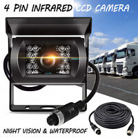4Pin Bus Trailer CCD IR Night Vision Car Rear View Reverse Camera Truck 12V-24V