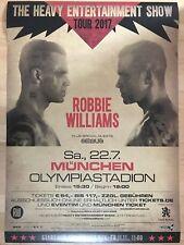ROBBIE WILLIAMS - MÜNCHEN 2017  - orig.Concert Poster - Konzert Plakat 118x84 cm