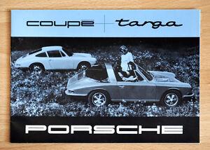 """orginal Werbeheft Prospekt """"Porsche 911"""" Ur-elfer erster Porsche Targa 1967"""