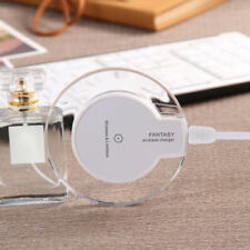 Clear Qi Wireless Fast Charger Charging Pad fr Samsung Galaxy S9 S9Plus iPhone X