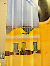 new FUN PEVA vinyl Blue SHOWER CURTAIN BEACH CHAIRS UMBRELLA Ocean tranquil