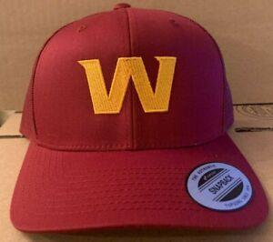 Washington Football Team New Logo W Snapback Trucker Yuppong Cap Redskins Hat