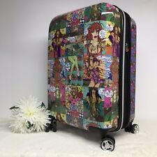 "Betsey Johnson 20"" Spinner Hardside Suitcase Carry On Luggage Travel Girl Cherry"