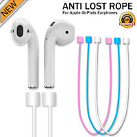 For iPhone 7 & 7 Plus AirPods Soft Silicone Sports Wire Anti Lost Rope Strap UK