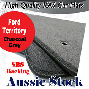Fits FORD TERRITORY SX SY 05/2004 - 2011 Tailored CAR CARPET MATS DARK CHARCOAL