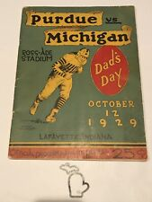 1929 Michigan @ Purdue Boilermakers Original Football Program PU UofM UM GD+