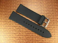 26mm Top Quality Soft PU Rubber Strap Black Diver Watch Band PAM LUMINOR 26 mm