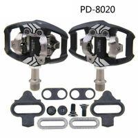 for Bike Deore XT PD-M8020 SPD Trail MTB Clipless Bike Pedals Set w/ Cleats Pair