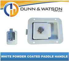 White Paddle Handle Powdercoated x1 Camper Trailer, Caravan Toolbox