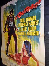 L' OUTRAGE  !  paul newman   affiche cinema 1964