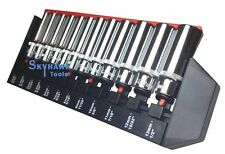"12-pc. 1/4"" DR  METRIC / SAE Deep Universal Spline Socket Set 6 12 Point Square"