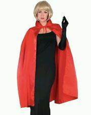 "Adult Red 45"" Satin Phantom Vampire Magician Costume Cape"