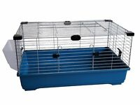 Heritage Blue Rabbit 100cm Large Indoor Cage Kit Guinea Pig Rodent Hutch Home