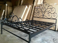 Beautiful Hand Made French Scrolls Iron Bed Ends Frame QUEEN Black
