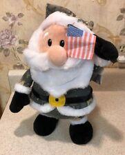 "RARE NEW Gemmy USA FLAG Animated MUSICAL Lighted Christmas 13"" Army Military"