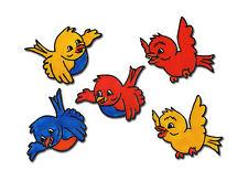 Fensterbild Window Color Bild Fensterfolie 5 Bunte Vögel im Set (014)