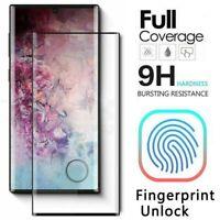 Fr Samsung Galaxy Note 10 Plus Full Cover HD Fingerprint Unlock Screen Protector