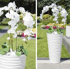 Künstliche Orchideen im Hochtopf 120cm weiß Gesteck Kunstpflanze Phalaenopsis  5