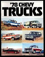 Original 1978 Chevy Truck Luv El Camino Fleetside Stepside Van Sales Brochure