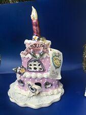 Vtg New Blue Sky Clayworks Heather Goldminc February Birthday Cake #Bc21301