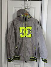 Men's DC Snowboarding Jacket Size Small Gray Yellow