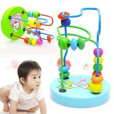 Colorful Wooden Around Beads Educational Game Toys For Baby Infant Kids Children