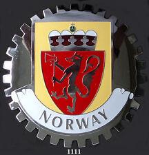 CAR GRILLE EMBLEM BADGES - NORWAY (CREST)