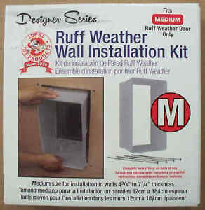 Ruff Weather Wall Installation Kit - For Medium Ruff Weather Pet Door ONLY !
