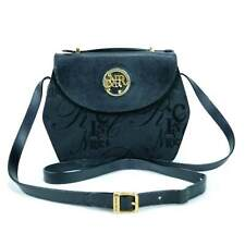 🔴 Nina Ricci Satchel Black Small Paris Canvas Crossbody Bag Vintage