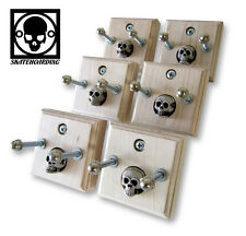 6-Pack Skateboard Vintage Deck Display Wall Mount Hanger Retro Skull santa cruz
